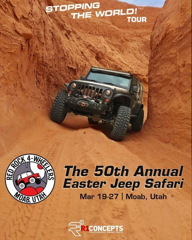 moab red rock 4wheelers easter jeep safari flyer 2016 640x800 - STOPPING THE WORLD! Tour 2016 Invades The 50th Annual Easter Jeep Safari