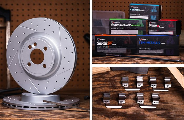 R1 Carbon GEOMET® Series Brake Rotors, R1 Concepts Brake Pads & R1 Concepts Brake Hardware