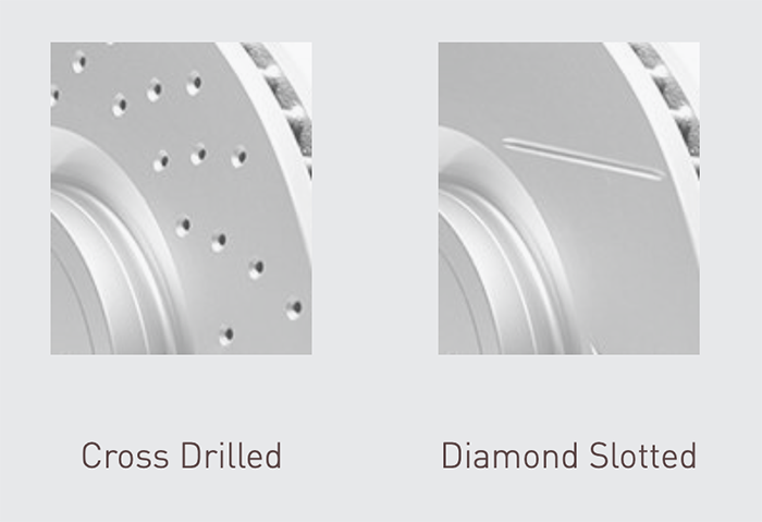 cross drilled rotor and diamond slotted rotor - Should I Get Diamond Slotted Rotors?
