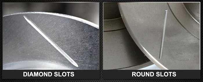 diamond slot vs round slot - Should I Get Diamond Slotted Rotors?