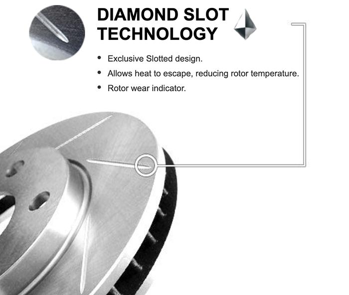 diamond slotted rotor - Should I Get Diamond Slotted Rotors?