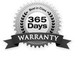 365 Days Warranty