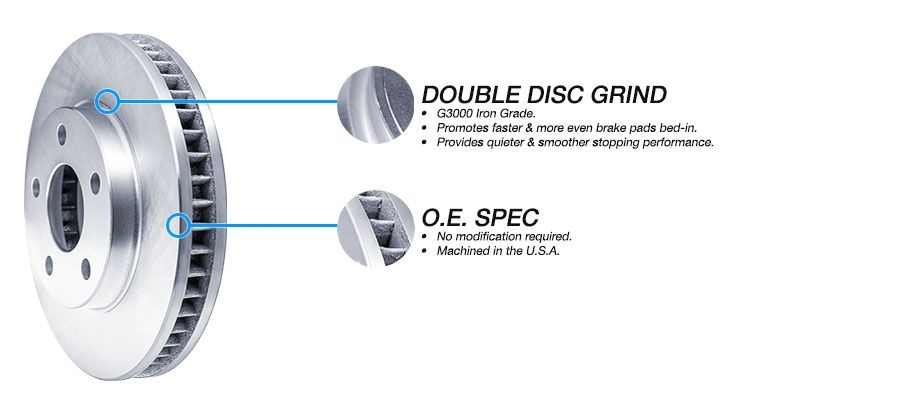 FRONT eLine Replacement Brake Rotors /& Heavy Duty Brake Pads FEB.67037.04