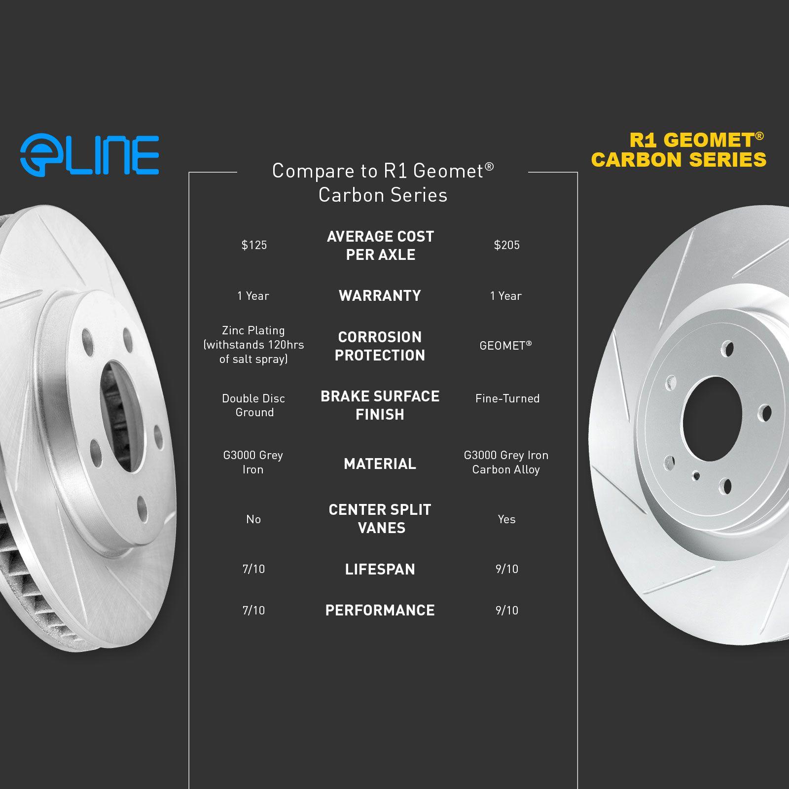 "Brake Rotors 2 FRONT ELINE /""DIAMOND SLOTTED/"" PERFORMANCE DISC RR53271"
