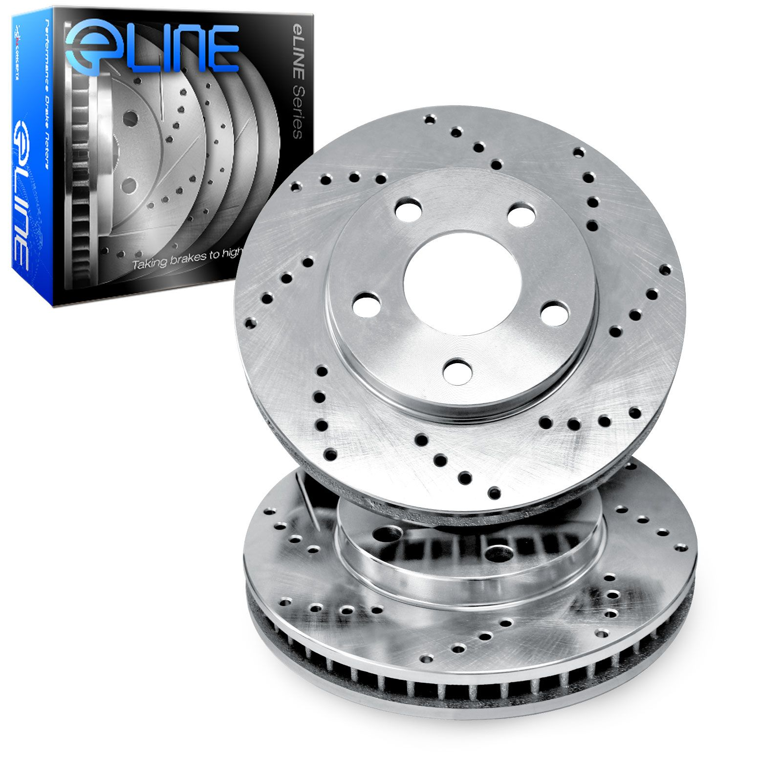 Cross Drilled Rotors >> Brake Rotors 2 Front Eline Cross Drilled Performance Disc Rs13038