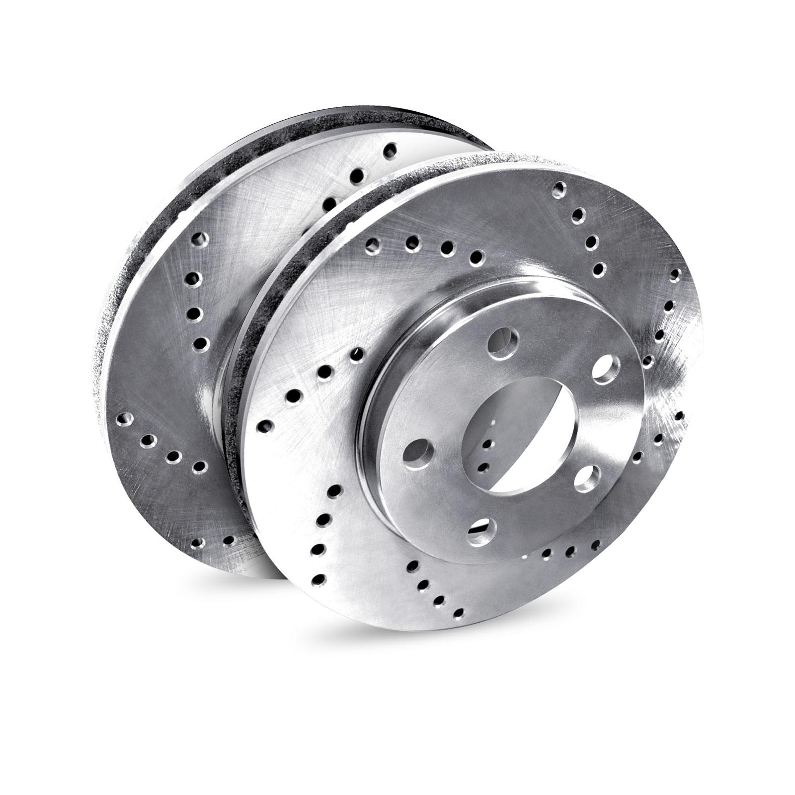 "Brake Rotors 2 REAR ELINE ""CROSS DRILLED"" PERFORMANCE DISC RW46054"
