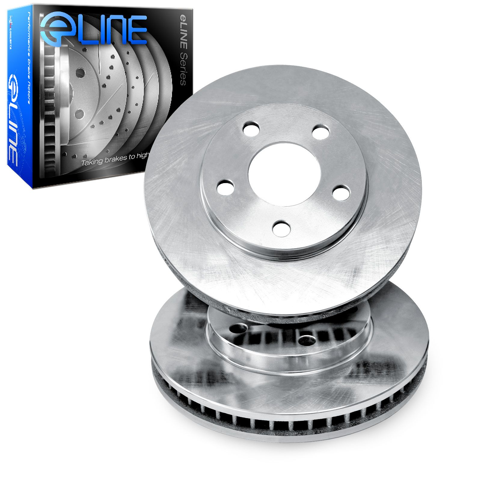 Brake Pads And Rotors Prices >> Details About Brake Rotors 2 Front Eline O E Factory Replacement Disc Rt48173
