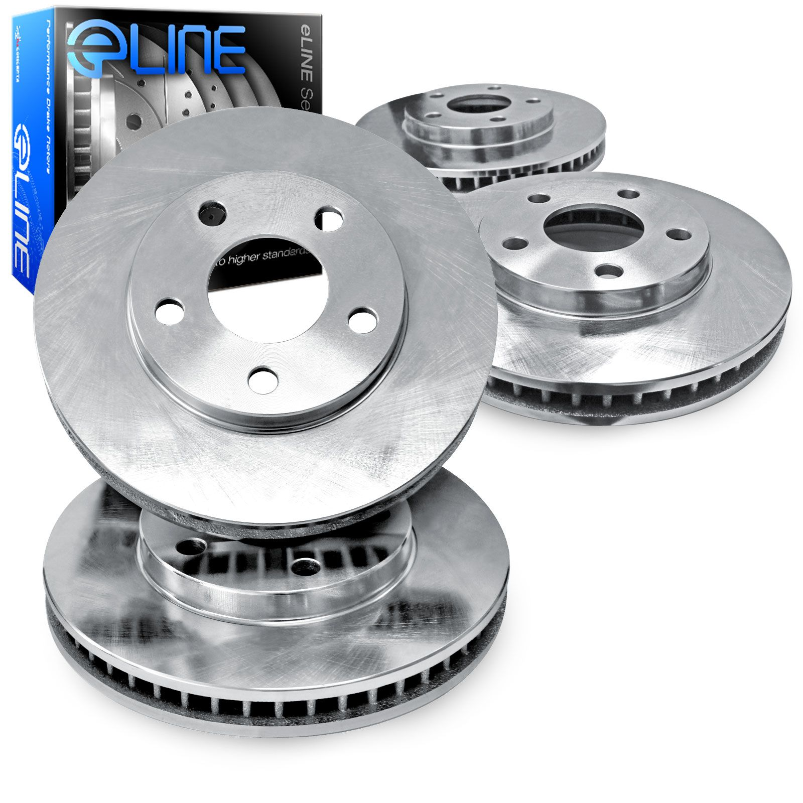 """2 REAR ELINE /""""O.E FACTORY REPLACEMENT/"""" DISC RP36115 Brake Rotors 2 FRONT"""