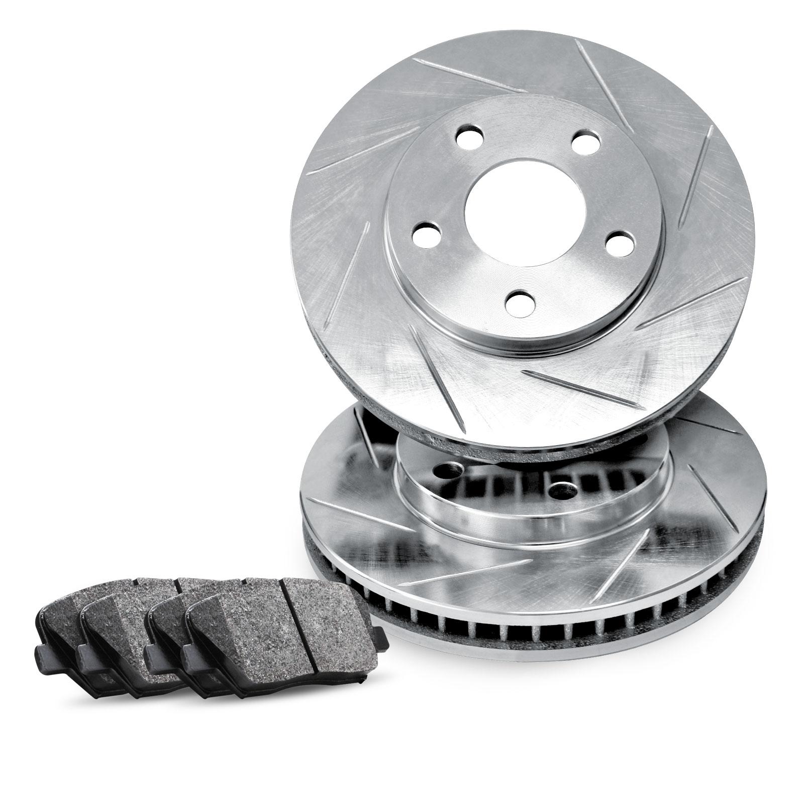 Brake Rotors FRONT KIT ELINE SLOTTED & PADS -Mitsubishi DIAMANTE 1997 - 2004 | eBay