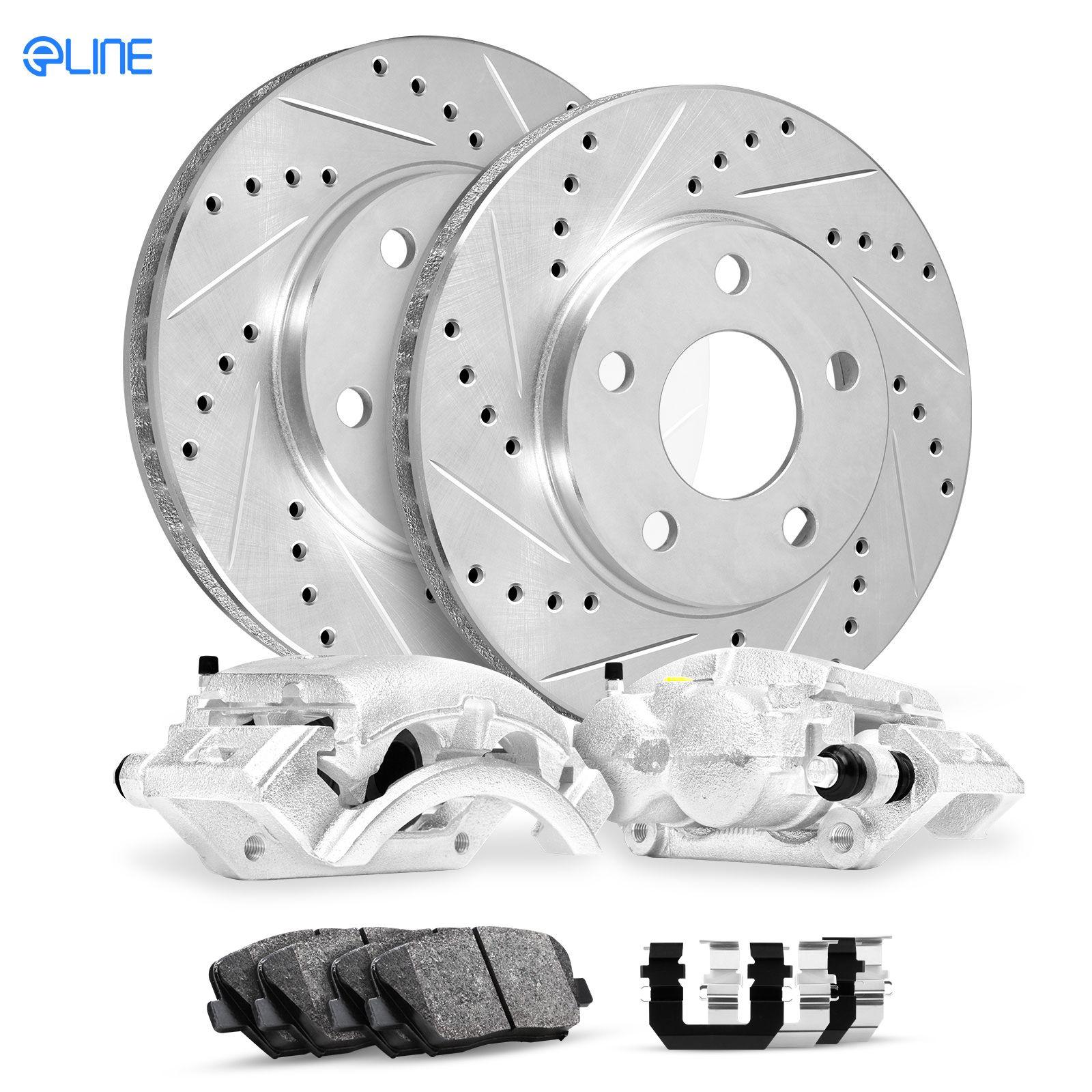 Galant Front Drill Slot Brake Rotors+Ceramic Brake Pads Fit Mitsubishi Eclipse