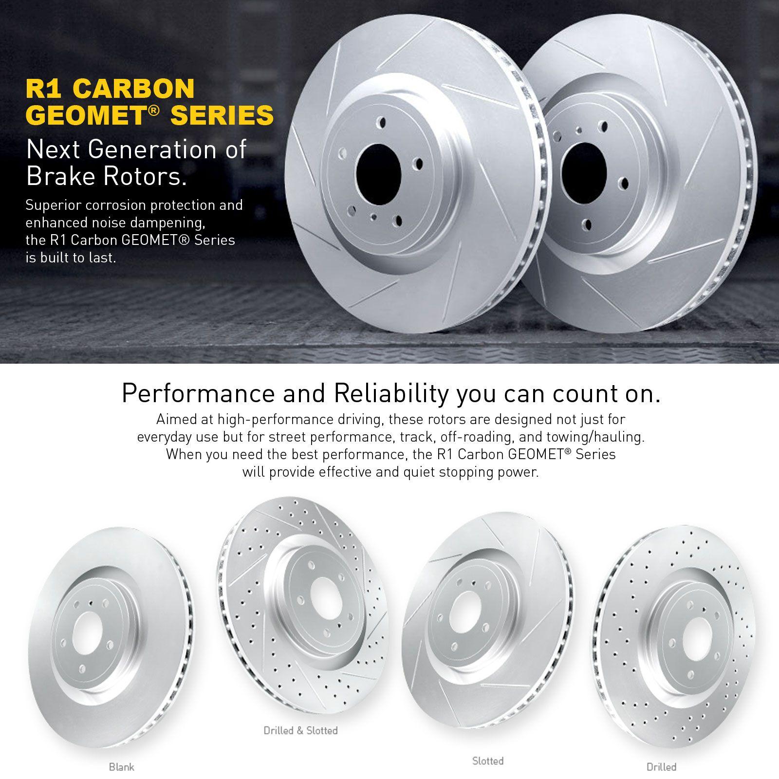 Full kit r1 carbon geomet series slotted brake