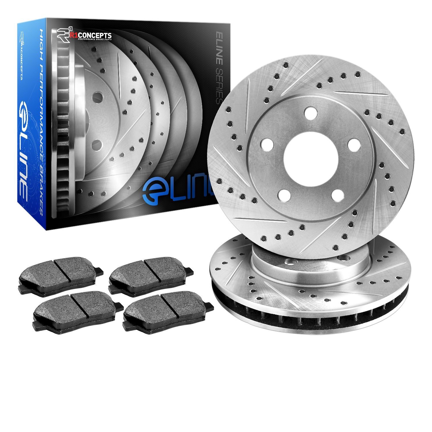 2010-2011-Mercedes-Benz-ML450-Hybrid-4Matic-3-5L-Front-Drilled-Slotted-Brake-Ro