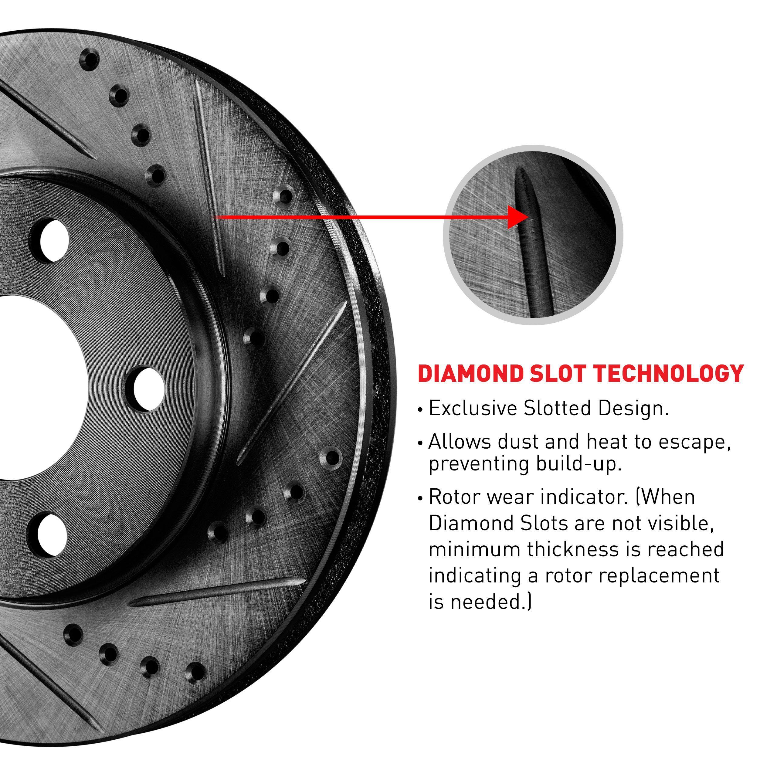Sentra Front Rear Slotted Brake Rotors+Semi-Met Pads For 1991-1994 Nissan NX