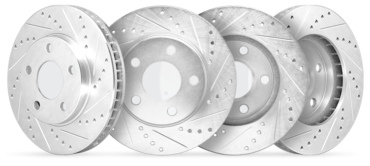 R1 Concepts CEDS11278 Eline Series Cross-Drilled Slotted Rotors And Ceramic Pads Kit Front and Rear