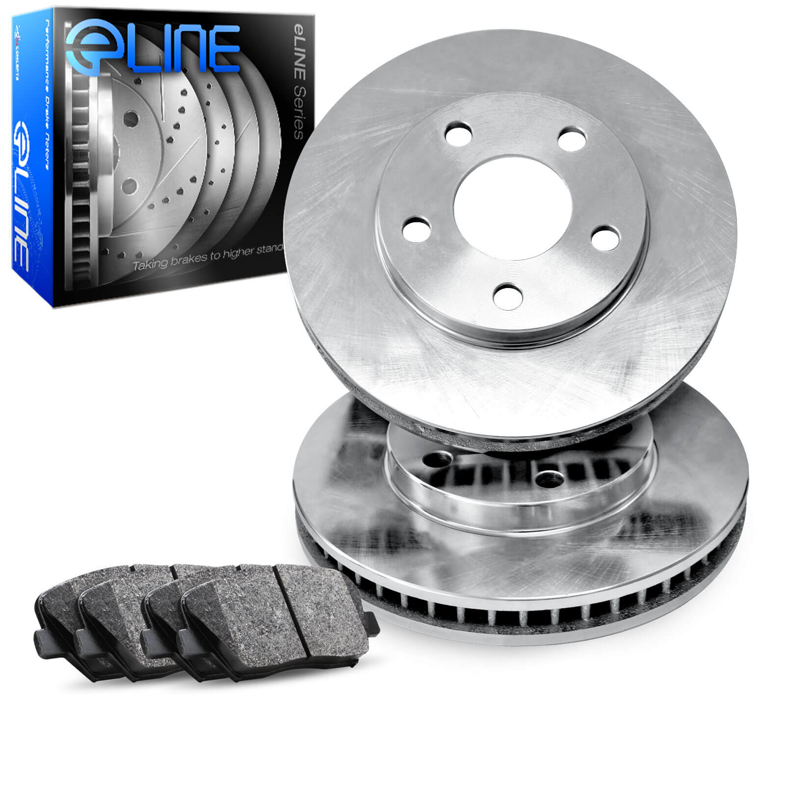 Front Optimum Oep Series Brake Pad With Rubber Steel Rubber Shims